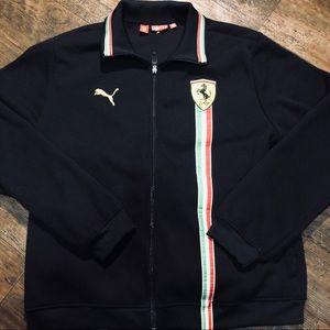 Puma x Ferrari Stitched Logo Full Zip Jacket